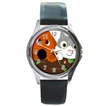 Baby Decoration Cat Dog Stuff Round Metal Watch