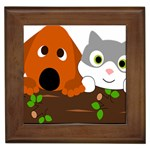 Baby Decoration Cat Dog Stuff Framed Tiles