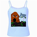 Baby Decoration Cat Dog Stuff Baby Blue Spaghetti Tank