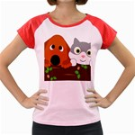 Baby Decoration Cat Dog Stuff Women s Cap Sleeve T-Shirt
