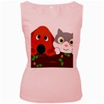Baby Decoration Cat Dog Stuff Women s Pink Tank Top