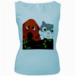 Baby Decoration Cat Dog Stuff Women s Baby Blue Tank Top
