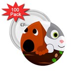 Baby Decoration Cat Dog Stuff 2.25  Buttons (100 pack)