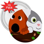 Baby Decoration Cat Dog Stuff 3  Buttons (10 pack)