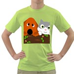 Baby Decoration Cat Dog Stuff Green T-Shirt