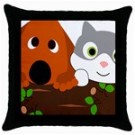 Baby Decoration Cat Dog Stuff Throw Pillow Case (Black)