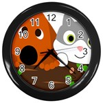 Baby Decoration Cat Dog Stuff Wall Clocks (Black)