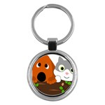 Baby Decoration Cat Dog Stuff Key Chains (Round)