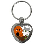 Baby Decoration Cat Dog Stuff Key Chains (Heart)