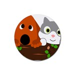 Baby Decoration Cat Dog Stuff Rubber Coaster (Round)