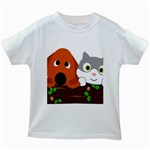 Baby Decoration Cat Dog Stuff Kids White T-Shirts