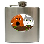 Baby Decoration Cat Dog Stuff Hip Flask (6 oz)