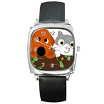 Baby Decoration Cat Dog Stuff Square Metal Watch