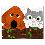 Baby Decoration Cat Dog Stuff Rectangular Jigsaw Puzzl