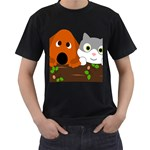 Baby Decoration Cat Dog Stuff Men s T-Shirt (Black) (Two Sided)