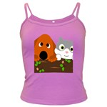 Baby Decoration Cat Dog Stuff Dark Spaghetti Tank