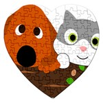 Baby Decoration Cat Dog Stuff Jigsaw Puzzle (Heart)