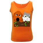 Baby Decoration Cat Dog Stuff Women s Dark Tank Top