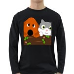 Baby Decoration Cat Dog Stuff Long Sleeve Dark T-Shirts