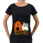 Baby Decoration Cat Dog Stuff Women s Loose-Fit T-Shirt (Black)
