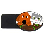 Baby Decoration Cat Dog Stuff USB Flash Drive Oval (4 GB)