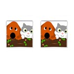 Baby Decoration Cat Dog Stuff Cufflinks (Square)