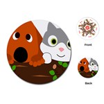 Baby Decoration Cat Dog Stuff Playing Cards (Round)