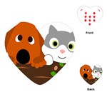 Baby Decoration Cat Dog Stuff Playing Cards (Heart)