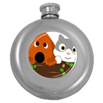 Baby Decoration Cat Dog Stuff Round Hip Flask (5 oz)