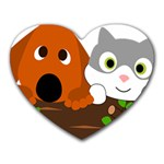 Baby Decoration Cat Dog Stuff Heart Mousepads