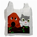 Baby Decoration Cat Dog Stuff Recycle Bag (One Side)