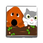 Baby Decoration Cat Dog Stuff Memory Card Reader (Square)