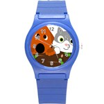 Baby Decoration Cat Dog Stuff Round Plastic Sport Watch (S)
