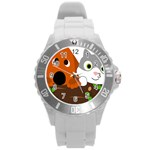 Baby Decoration Cat Dog Stuff Round Plastic Sport Watch (L)