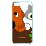 Baby Decoration Cat Dog Stuff Apple Seamless iPhone 5 Case (Color)