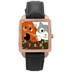 Baby Decoration Cat Dog Stuff Rose Gold Leather Watch
