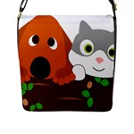 Baby Decoration Cat Dog Stuff Flap Messenger Bag (L)