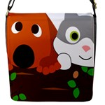 Baby Decoration Cat Dog Stuff Flap Messenger Bag (S)