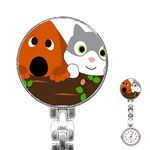 Baby Decoration Cat Dog Stuff Stainless Steel Nurses Watch