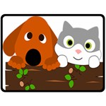 Baby Decoration Cat Dog Stuff Double Sided Fleece Blanket (Large)