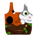 Baby Decoration Cat Dog Stuff Full Print Recycle Bags (L)
