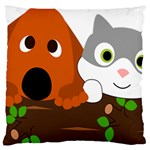 Baby Decoration Cat Dog Stuff Large Flano Cushion Case (Two Sides)