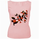 Flower Branch Nature Leaves Plant Women s Pink Tank Top