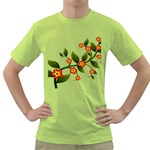 Flower Branch Nature Leaves Plant Green T-Shirt