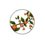 Flower Branch Nature Leaves Plant Hat Clip Ball Marker (4 pack)