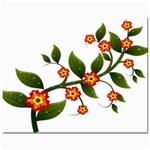 Flower Branch Nature Leaves Plant Mini Button Earrings