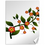 Flower Branch Nature Leaves Plant Canvas 12  x 16