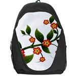 Flower Branch Nature Leaves Plant Backpack Bag