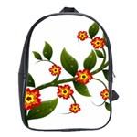Flower Branch Nature Leaves Plant School Bag (XL)