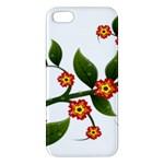 Flower Branch Nature Leaves Plant Apple iPhone 5 Premium Hardshell Case